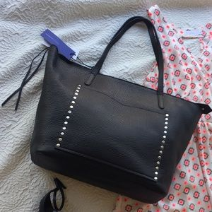 NWT Rebecca Minkoff Large Studded Leather Tote